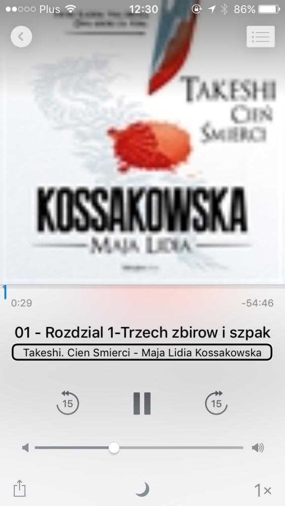 Zrzut ekranu - Odtwarzacz audio w mobilnej aplikacji iBooks