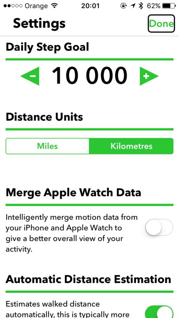 Zrzut ekranu z iPhone – Ekran Ustawień