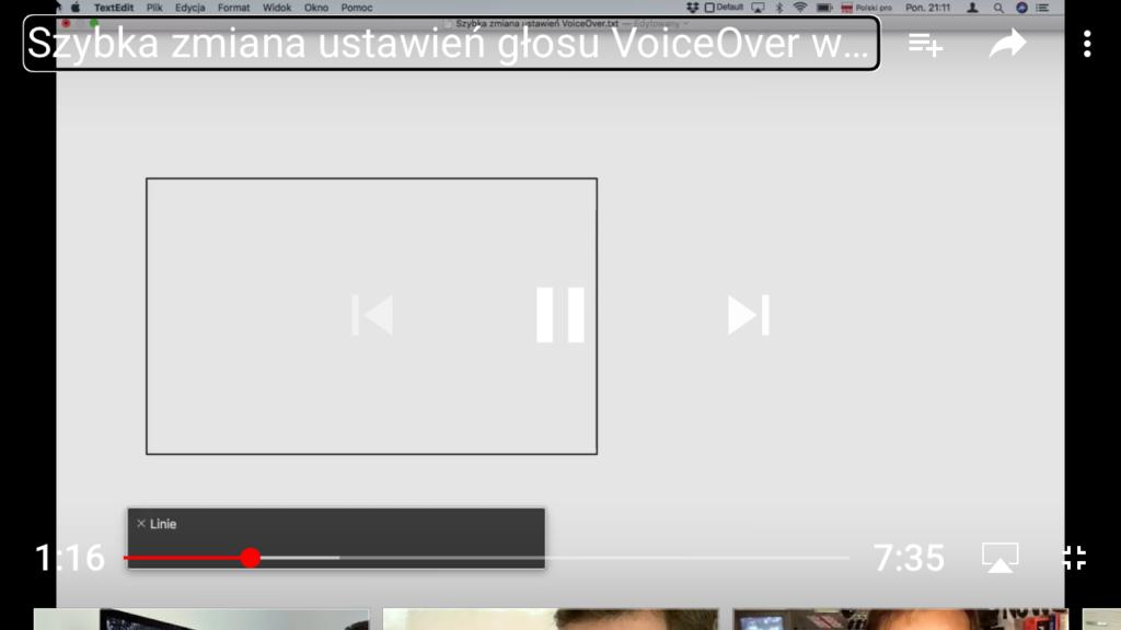 Kadr z nagrania - Na ekranie Macbooka Air wyświetla się okno edytora TextEdit.