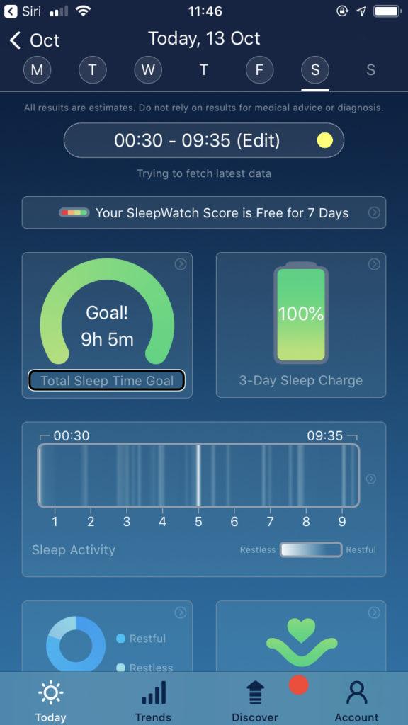 Zrzut ekranu z iPhone - Główne okno aplikacji