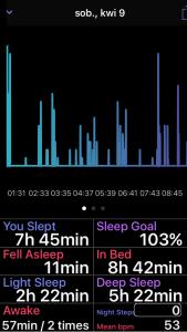 Zrzut ekranu - Zakładka Sleep w aplikacji SleepPulse