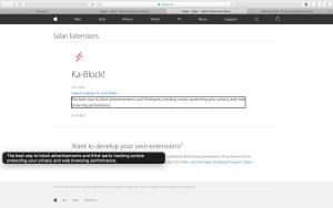 Zrzut ekranu - Podstrona z rozszerzeniem Ka-Block!