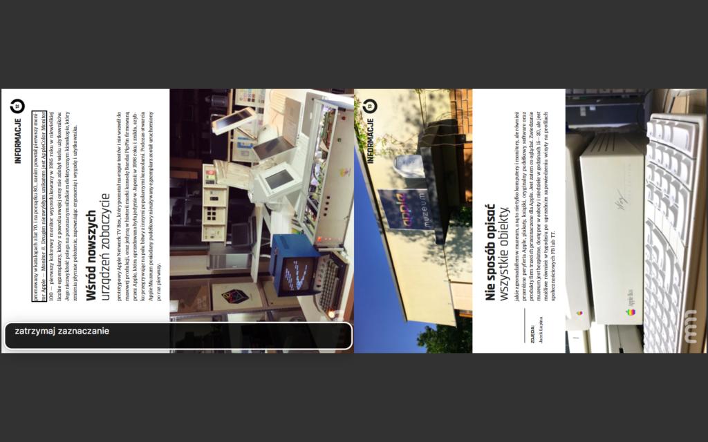 Zrzut ekranu - Aplikacja Podgląd z otwartym numerem Mój Mac Magazyn, w którym zaznaczony został fragment tekstu