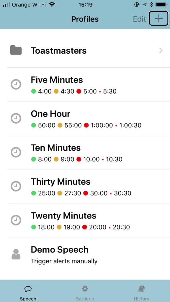 Zrzut ekranu z iPhone – Główny ekran aplikacji Speaker Alert