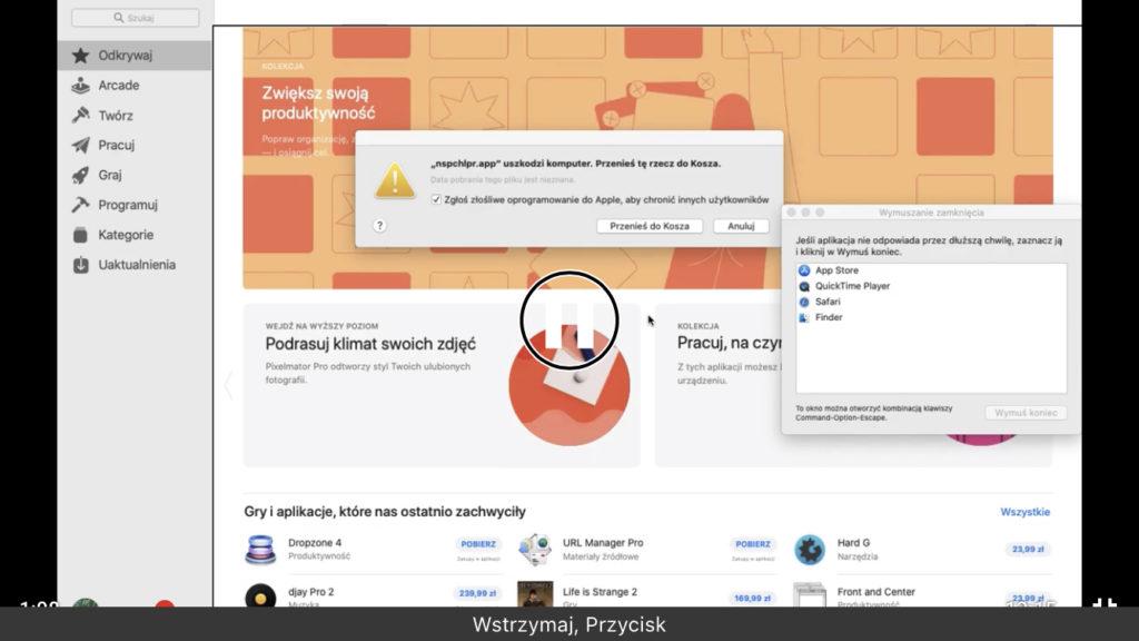Zrzut ekranu - Widok otwartej aplikacji App Store w systemie macOS