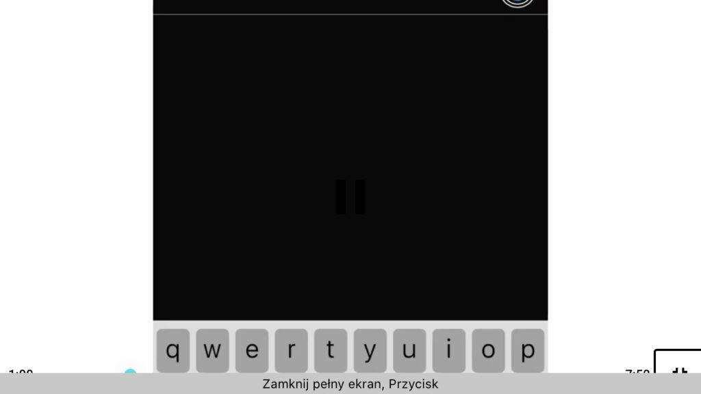 Kadr z nagrania - Dodawanie kolejnej osoby do połączenia w usłudze FaceTime w systemie iOS