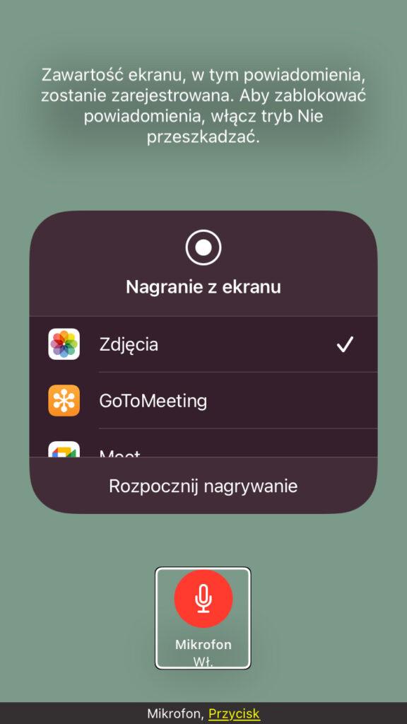 Otwarte narzędzia Nagrywania z Ekranu