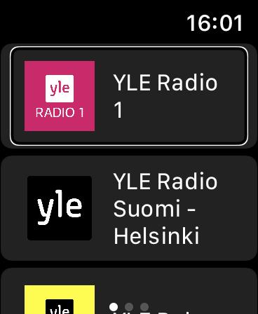 Eter Radio na Apple Watch - Lista fińskich stacji radiowych